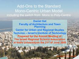 Monocentric model