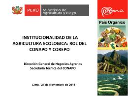 Promocion Producción Orgánica - Red de Agricultura Ecológica del