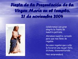 Diapositiva 1 - Congregación La Presentación de la Virgen María de
