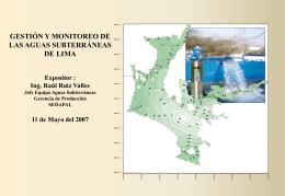 Gestión y Monitoreo de Aguas Subterráneas de Lima