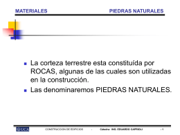 CONSTRUCCION DE EDIFICIOS 2008 MATERIALES PIEDRAS