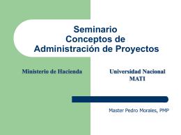 Seminario conceptos de administración de proyectos