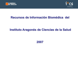 Recursos de información biomédica on line disponibles