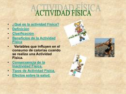 ¿Qué es la Actividad Física?