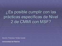 MSF para CMMI Nivel 2 - Universidad de Palermo