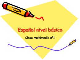 Español nivel elemental