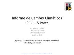 Informe de Cambio Climáticos IPCC – 5 Parte