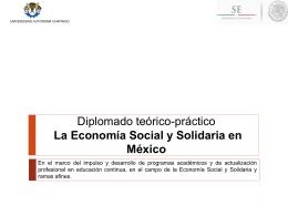 Diplomado en Economía Social y Solidaria.