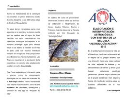 Diapositiva 1 - Escuela de Astrología Activa
