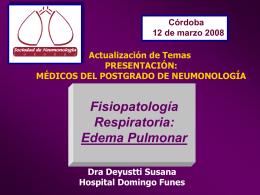 Edema Pulmonar - Sociedad de Neumonología de Córdoba