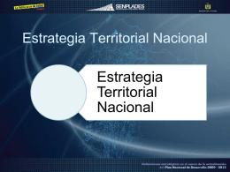 Estrategia Territorial Nacional - Sistema Nacional de Información
