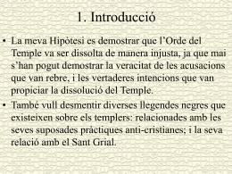 """""""L`Orde del Temple. Història i Misteris"""". Presentació en power"""