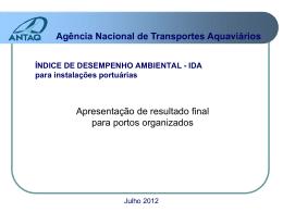 ÍNDICE DE DESEMPENHO AMBIENTAL
