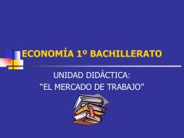 Mercado trabajo - Ecobachillerato