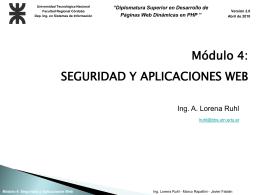 Modulo 4 - Clase 10 - Seguridad y Aplicaciones Web