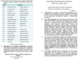 Boletín nº 2 - Escuela República de Croacia
