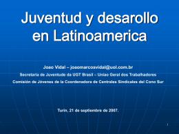 Juventud y desarollo en Latinoamerica