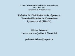attention-hyperactivité (TDA/H - Université du Québec à Montréal