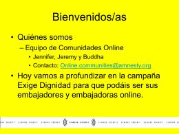 Webinar para Embajadores Online - Exige