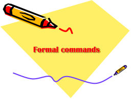 Formal commands - mssalswikipage