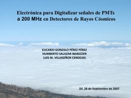 G. Pérez, Electrónica 200 MHz