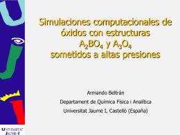 Simulaciones computacionales de óxidos con - MALTA