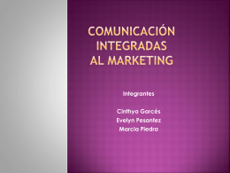 comunicación integradas al marketing