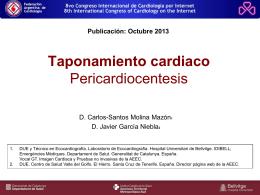 Taponamiento cardiaco. Pericardiocentesis