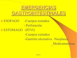 emergencias gastrointestinales