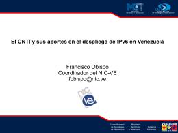 Implementación IPv6 en CNTI/NIC VE