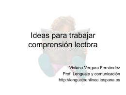 La lectura y el lector - Viviana Vergara Fernández