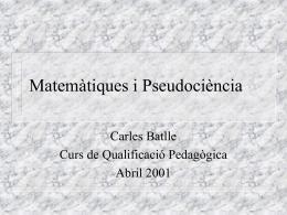 Matemàtiques i Pseudociència