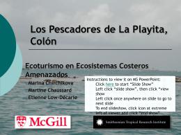 Los Pescadores de La Playita, Colón
