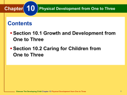 Chapter 10 Physical Development from One to Three