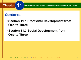 Chapter 11 Emotional and Social Development from One to Three
