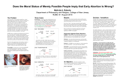 Poster on Abortion and the Moral Status of Merely Possible People