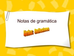 Notas de gramática