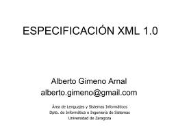 ESPECIFICACIÓN XML 1.0