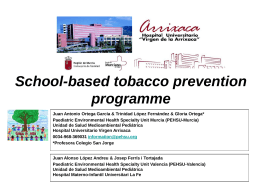 School-based tobacco prevention programme Paediatric