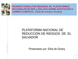 Plataforma Nacional El Salvador (in Spanish) [ppt