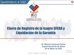 Liquidación de Garantía - Superintendencia de Salud