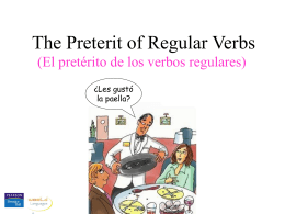 Preterit of regular verbs - Lynn English Faculty Websites