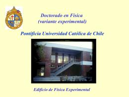 No Slide Title - Pontificia Universidad Católica de Chile