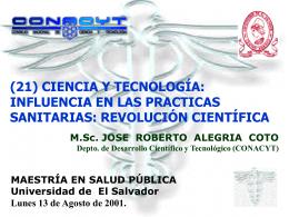 revolución científica - Consejo Nacional de Ciencia y Tecnología