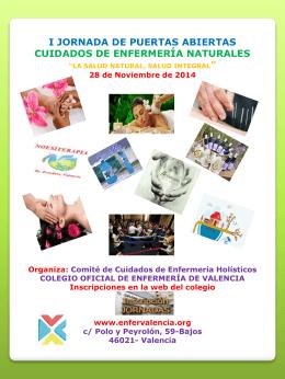 Poster Jornada Puertas Abiertas Cuidados de Enfermeria Naturales