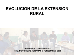 EVOLUCION DE LA EXTENSION RURAL