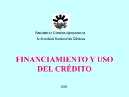 financiamiento y uso del crédito