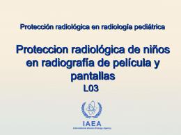 03. Protección radiológica de niños en radiografía digital