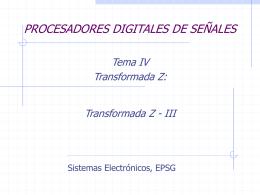 Sesion 10 Procesadores Digitales de Se¤ales