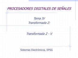 Sesion 12 Procesadores Digitales de Se¤ales